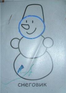 Как нарисовать снеговика своими руками